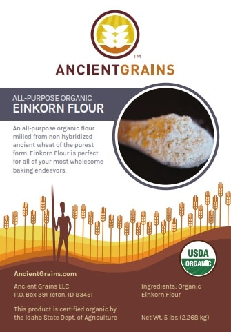 Usps Return Label >> Organic Einkorn Flour (All-Purpose) In Paper Bags (5 lb -15 lb) » Einkorn.com